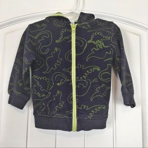 Kids Korner Boys Zip up Hoodie Dinosaur Print 9 mo